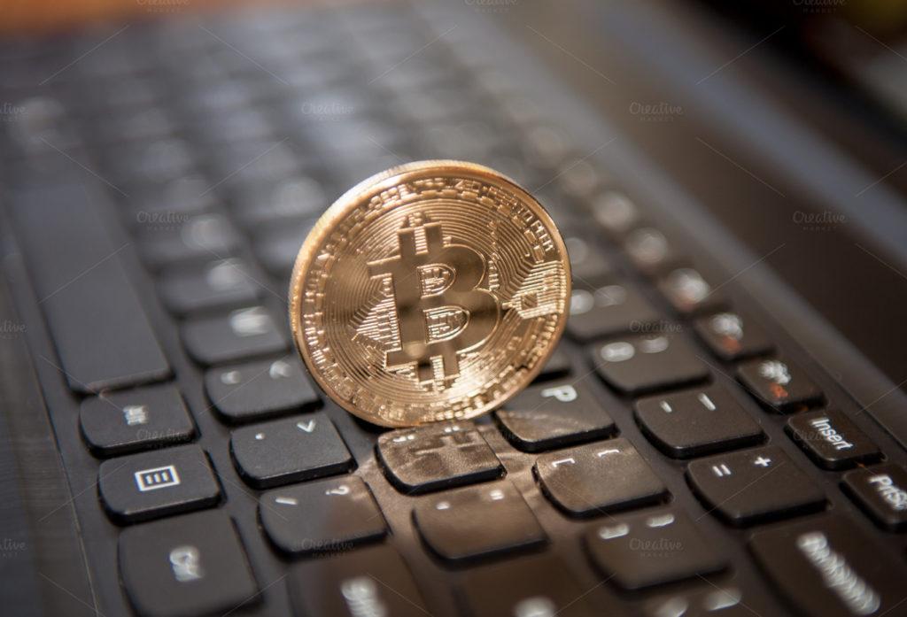 биткоин на клавиатуре