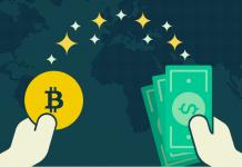 доллары и биткоин