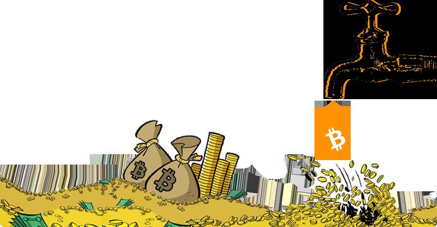 кран с монетами