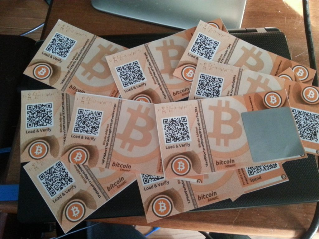 бумажные биткоин кошельки